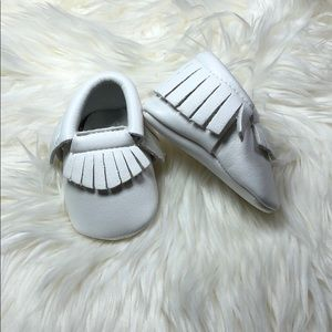 Other - New white soft sole baby moccasins